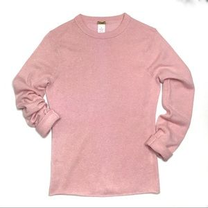 J. Crew Italian Cashmere Pink Crew Neck Sweater